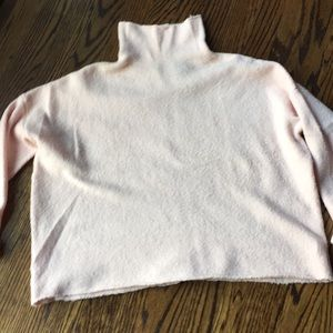 French Connection pink sweater boxy cut